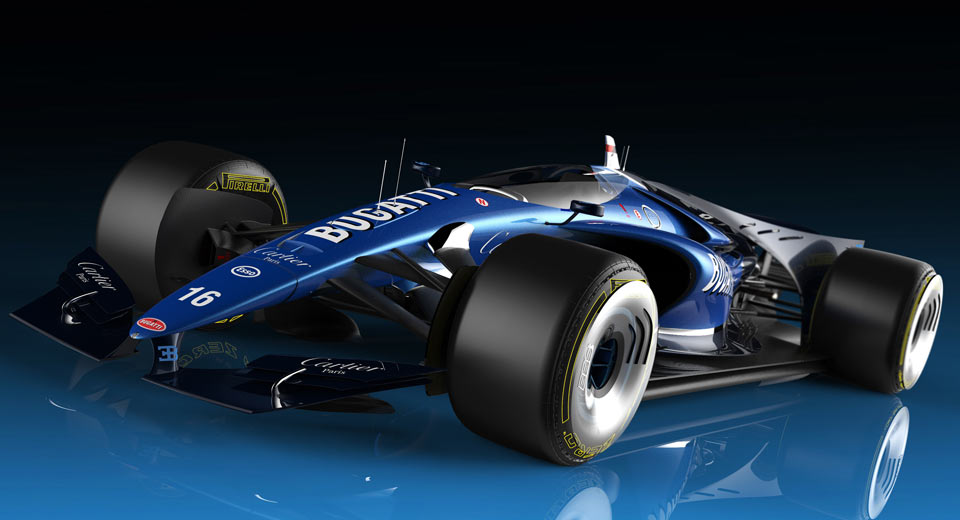 Bugatti F1 Car Has Closed Canopy Design and Futuristic Turbine Drive Engine - TechEBlog