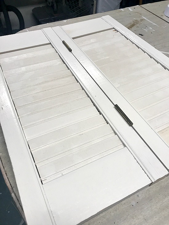 plantation shutters painted white