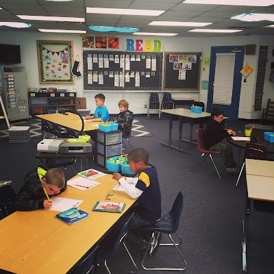 Flexible Seating in a First Grade Classroom