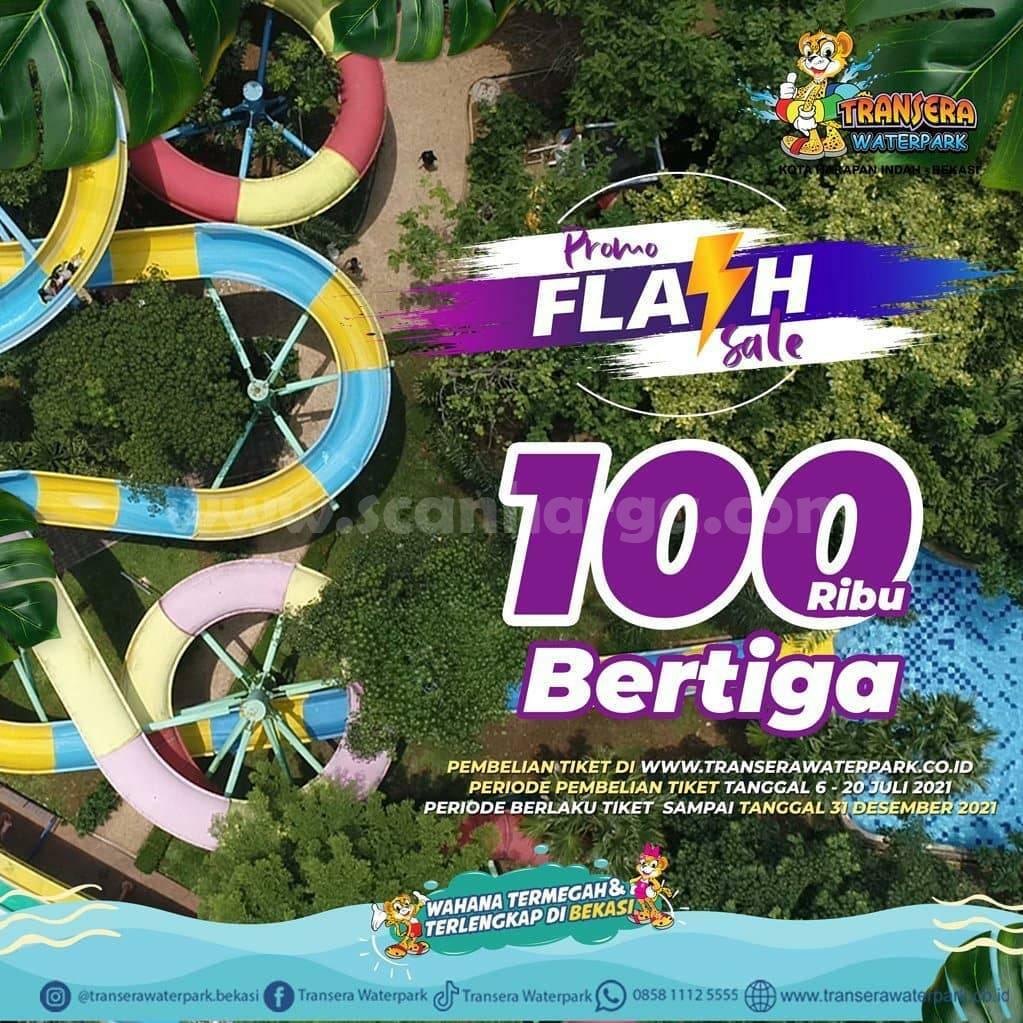 TRANSERA WATERPARK BEKASI Promo FLASH SALE - 100 Ribu Bertiga