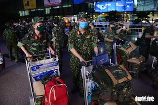 5 chuyến bay chở quân nhân từ Hà Nội đến HCM chống dịch