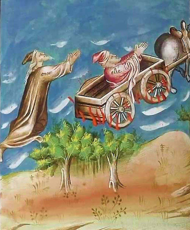 Santo Elias e Enoque, Apocalipse do duque de Berry, facsímil