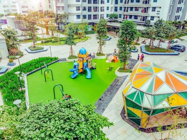 Không gian xanh chung cư Goldmark City