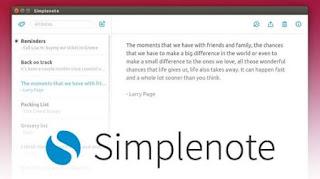 أداة, موثوقة, وآمنه, لحفظ, وتدوين, الملاحظات, والمذكرات, والأفكار, ومزامنتها, Simplenote