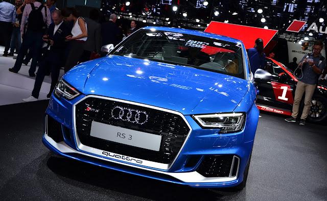 Audi RS3 Sedán durante su presentación el Paris Motor Show