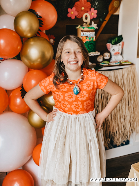 Moana birthday party, moana birthday, moana party ideas, moana cookies, taylor joelle dress, taylor joelle moana dress
