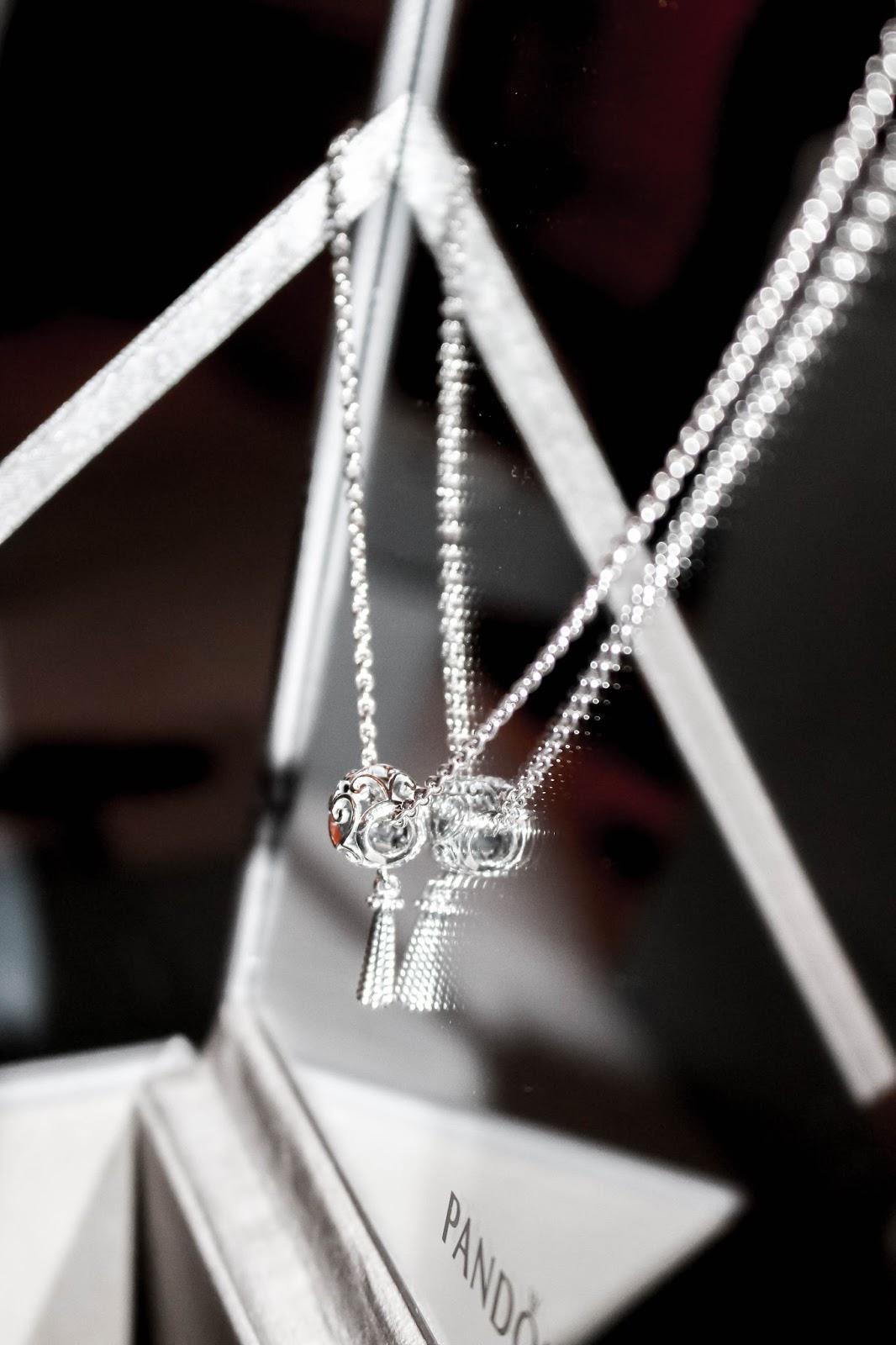 Pandora Silver Tassel Necklace Spring 2018