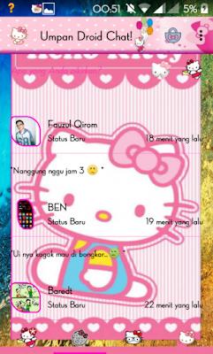Bbm Hello Kitty Pink : hello, kitty, Droid, Chat!, V5.7.26, Hello, Kitty, Themes, Based, 2.9.0.49, (Backup, Sticker, Games, Aplikasi, Android