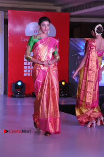 South Indian Celebrities Pos at Love For Handloom Collection Fashion Show  0138.jpg
