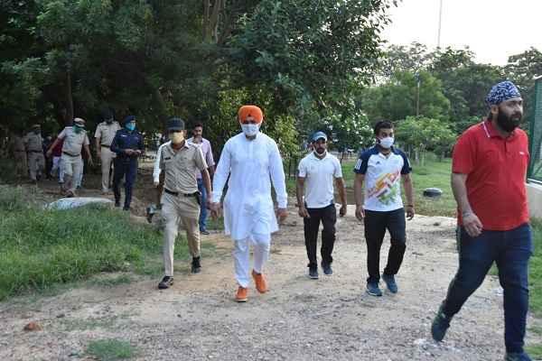 haryana-sports-minister-sandeep-singh-visit-sector-12-sports-stadium