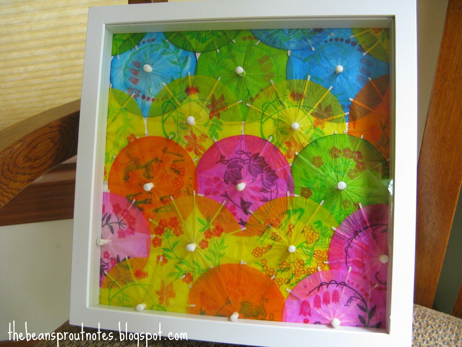 The Bean Sprout Notes: DIY Wall Art: Umbrellas on Parade