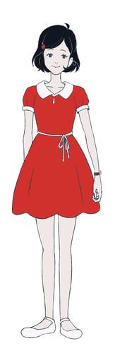 Kana Hanazawa como la Chica del Pelo Negro
