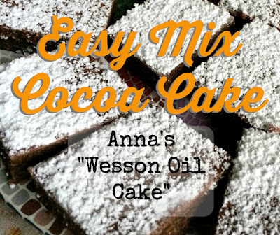 Anna's Easy Mix Cocoa Cake Gluten-free Recipe - Favorite Family Recipes