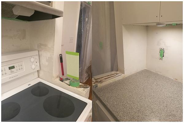 Kitchen end walls - should I tile them?