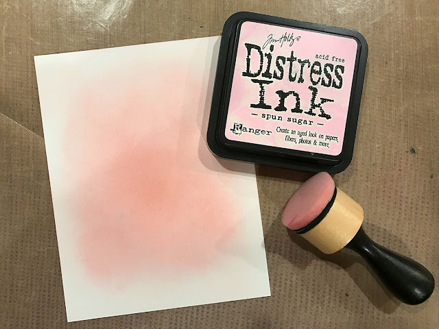 DIY Stencil with Die Cuts and Distress Ink by Juliana Michaels