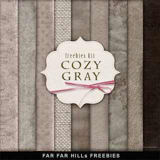New Freebies Kit of Paper - ?ozy Gray
