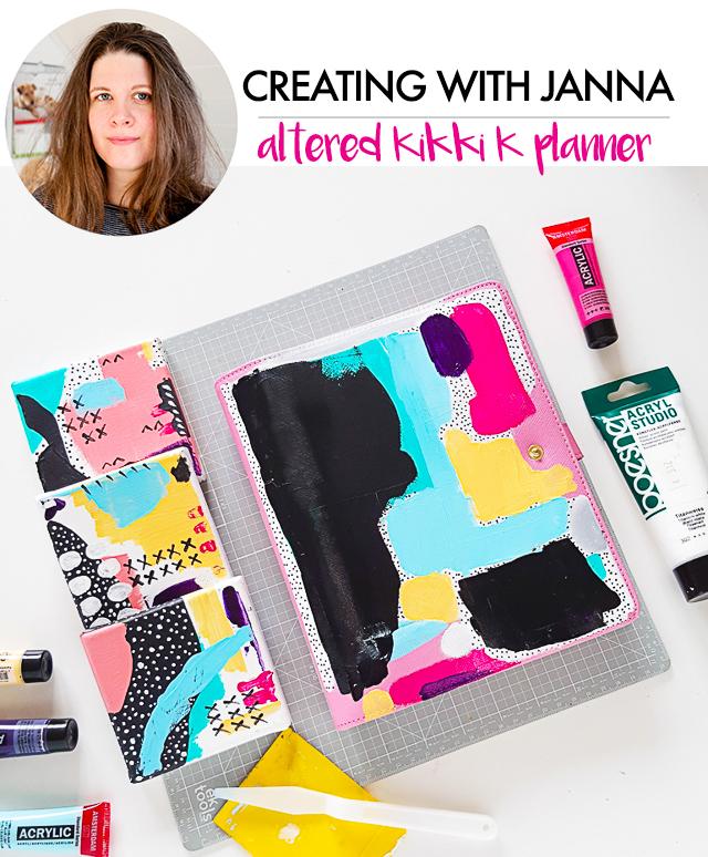 creating with janna- altered kikki k planner
