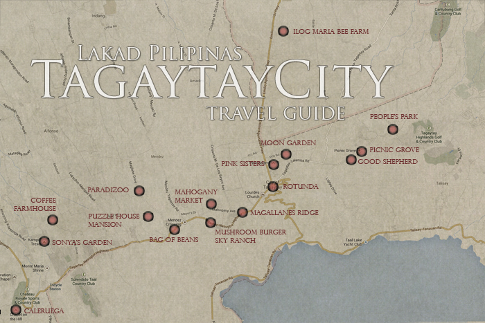 Tagaytay Tourist Spots Map