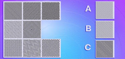 Figure: Choose the correct piece to complete the pattern!