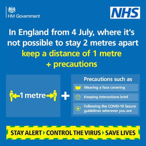 1 metre plus rule UK 4th July