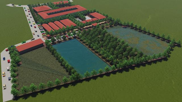 site plan pondok pesantren modern