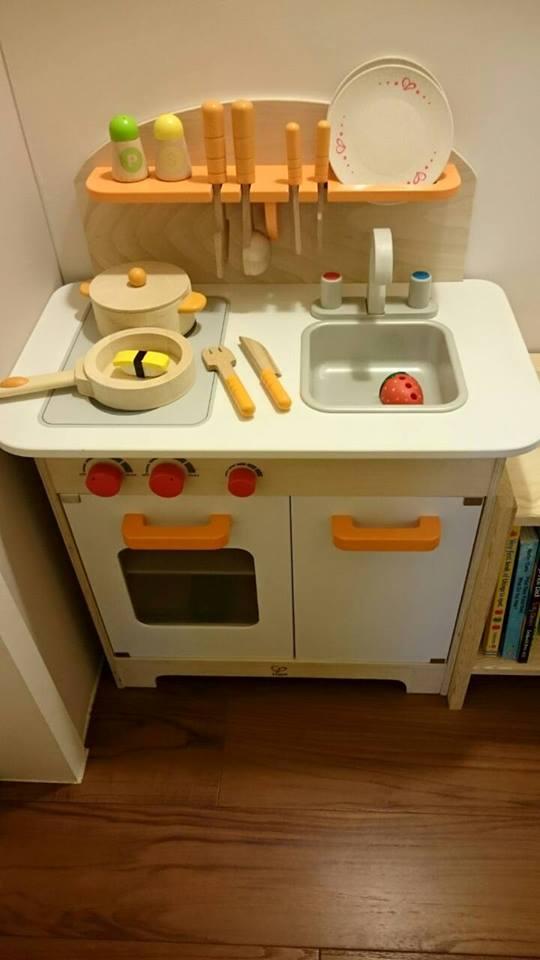 Hape Kitchen Indoor Garden 育兒 Hape愛傑卡 孩子的小小廚房 大型廚具台 主廚配件 主廚烹飪 愛傑卡的廚具辦家家威力十足