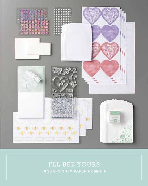 January 2020 Stampin' Up! Paper Pumpkin all-inclusive monthly stamp kit | I'll Bee Yours | Nicole Steele The Joyful Stamper