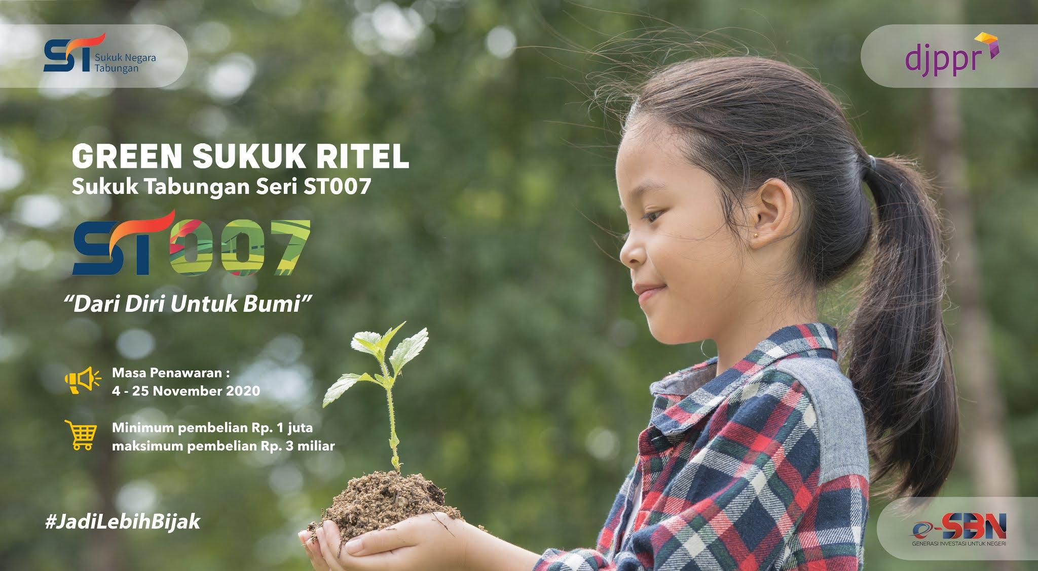 Green Sukuk Ritel – Sukuk Tabungan seri ST007