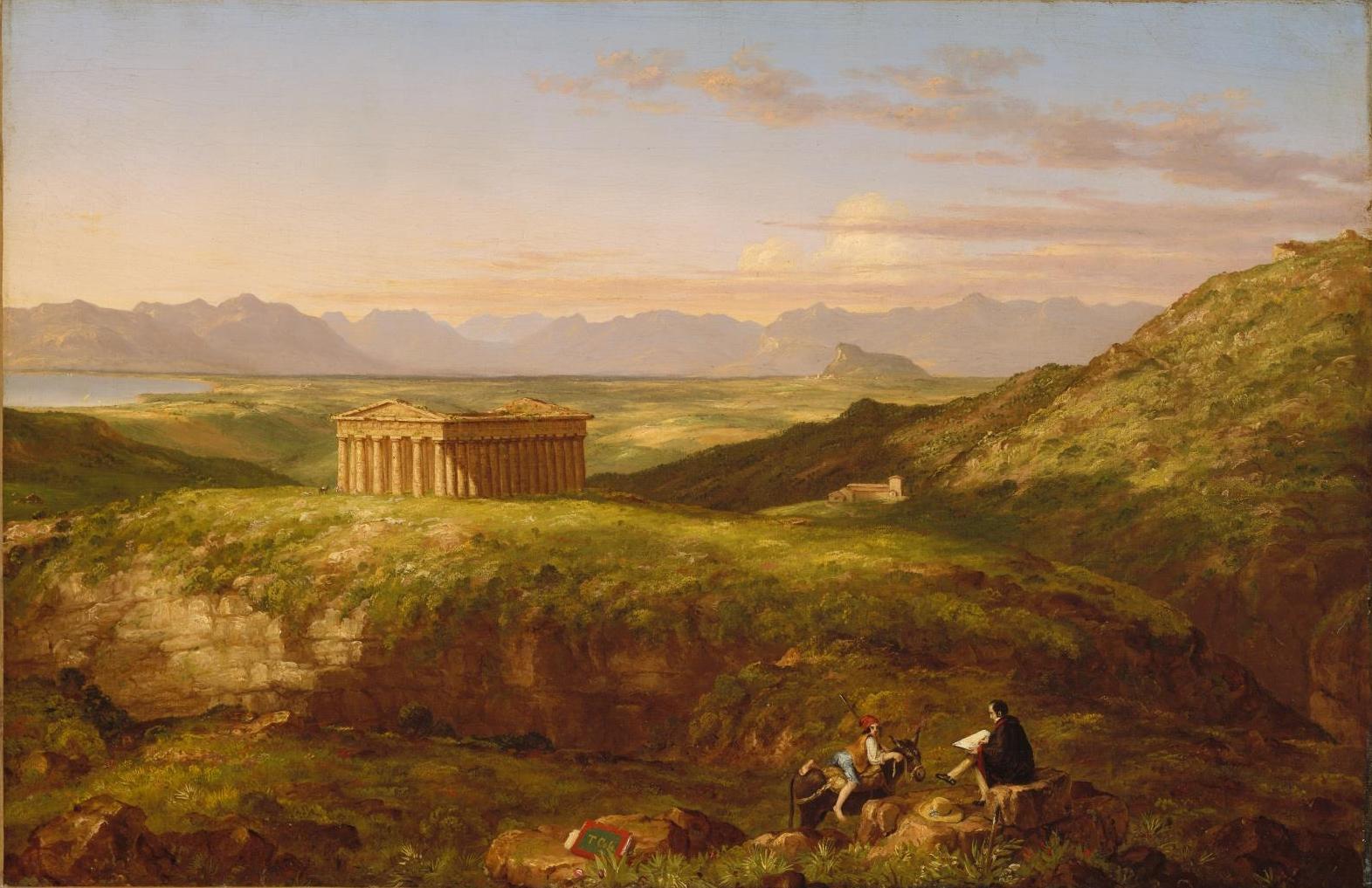 Thomas Cole Temple of Segesta  Museum of Fine Arts  oston