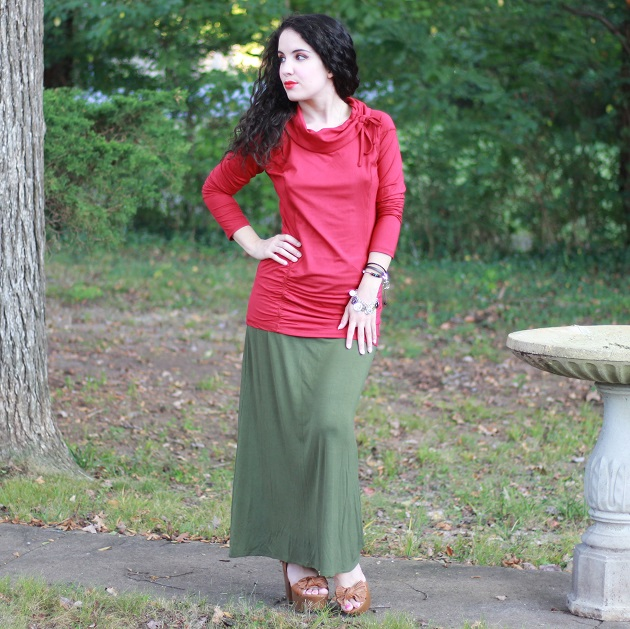 Ninedaily Tunic and Simlu Maxi Skirt