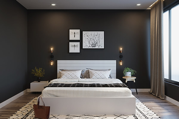 phòng ngủ vợ chồng nên sơn màu gì