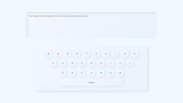 Neumorphism Custom Working Keyboard