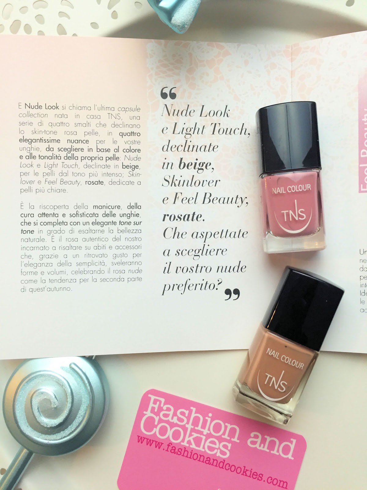 Nude Look and skinlover nail polish collection by TNS Cosmetics on Fashion and Cookies beauty blog, beauty blogger review