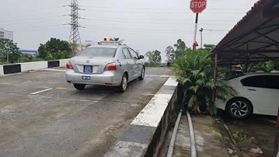 xe thi sát hạch lái xe hạng B2 học viện cảnh sát nhân dân