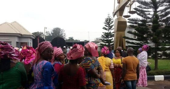Image result for Women Protesters Storm Court Again For Patience Jonathan