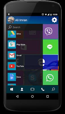 tampilan menu aplikasi slide