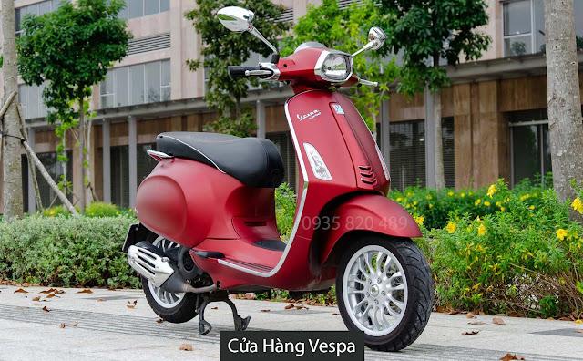 Vespa Sprint Red Scarlatto (Đỏ mận)