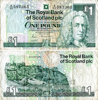 Royal Bank of Scotland One Pound Note 1989