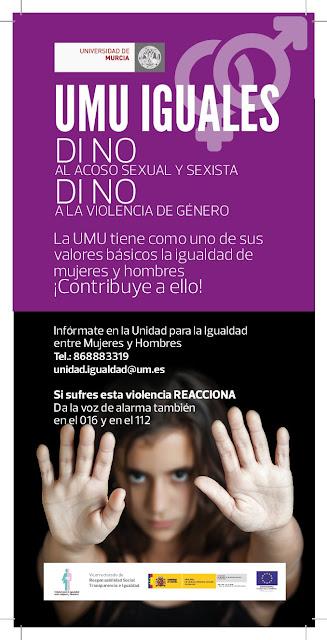Día Internacional contra la violencia de genero, minuto de silencio en la UMU.