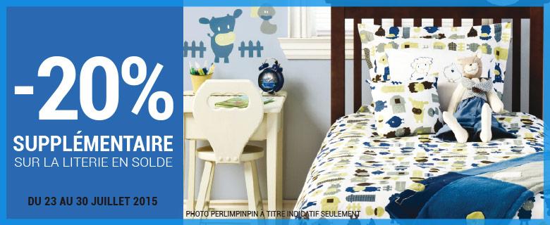 clement 20 de rabais suppl mentaire sur la literie en solde. Black Bedroom Furniture Sets. Home Design Ideas