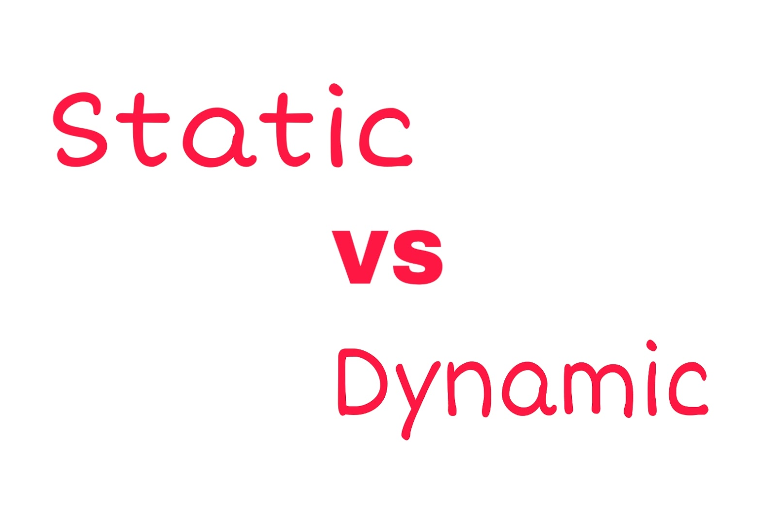 Static vs dynamic web pages ?