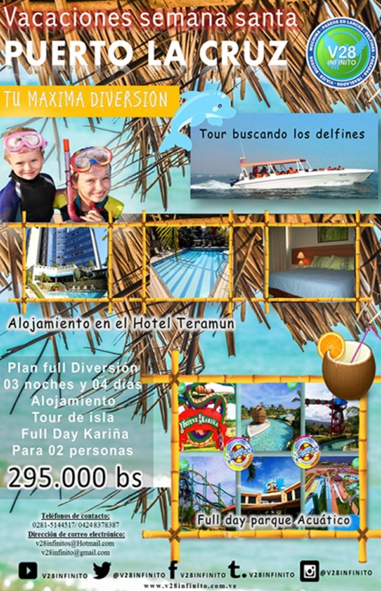 imagen Plan full diversión Puerto la Cruz semana santa