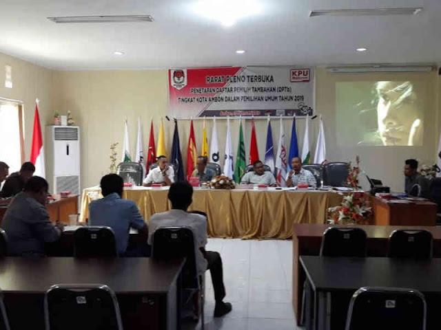 KPU Kota Ambon Gelar Pleno Rekapitulasi DPT Pemilu 2019