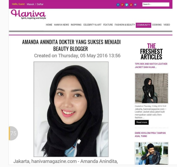 Amanda in Haniva Magazine