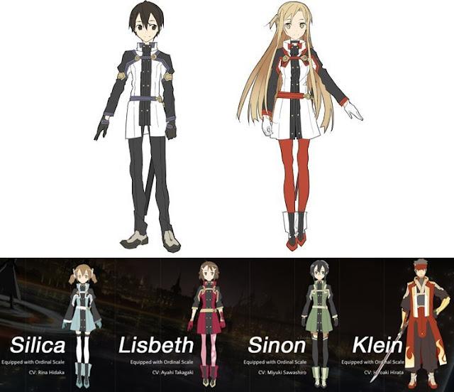 Design karakter SAO Oridinal Scale