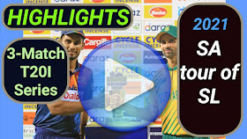 Sri Lanka vs South Africa T20I Series 2021