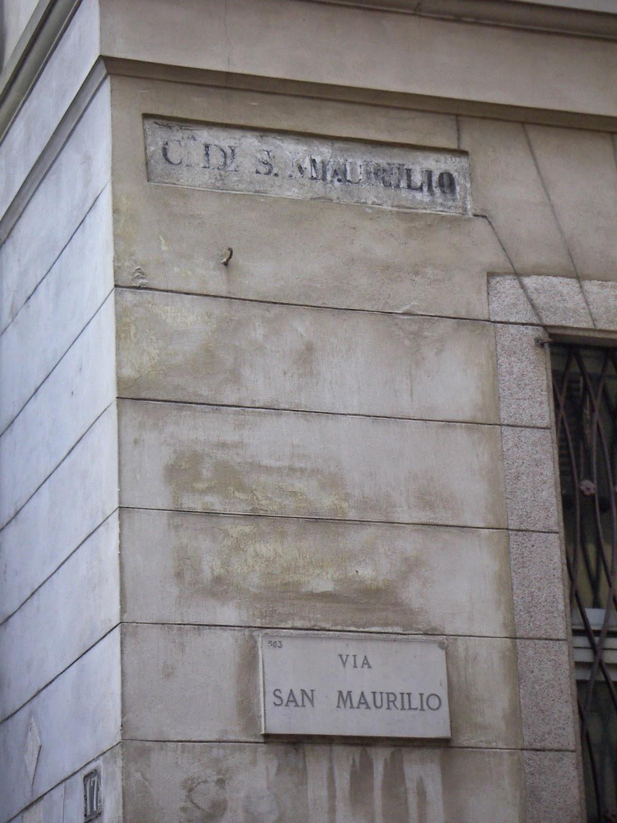 Via San Maurilio Milano milanoneisecoli: la contrada di s.ambrogio alla palla