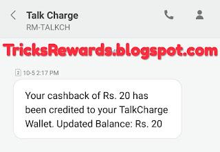 Tricksrewards.blogspot.com, talkcharge payment proof