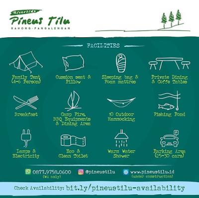 Pineus Tilu Camp Ground Pangalengan, Sensasi Berkemah Di Tepi Sungai Yang Dikelilingi Oleh Hutan Pinus