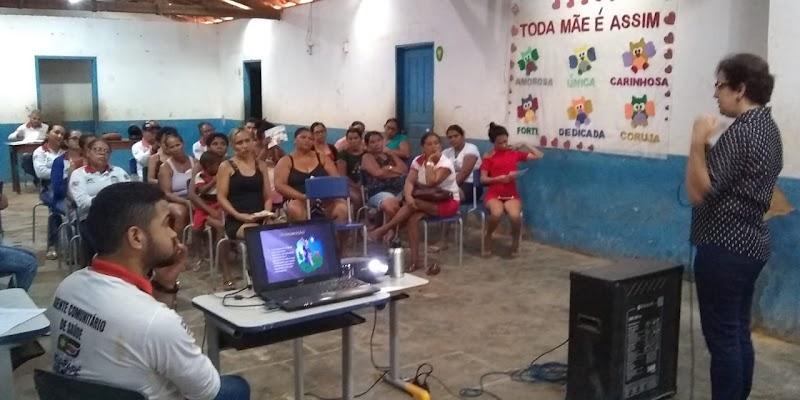 Secretaria de Saúde de Igarapé Grande realiza palestra sobre hanseníase.